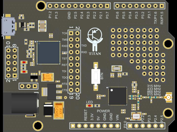 MSP430 Development Board - MSP430 Плата разработчика